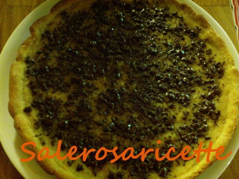 Crostata vegana cachi e cioccolato